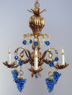 Jason Getzan - Venetian style chandelier; selling on Swan House Miniatures for $240