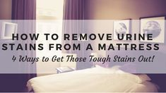 Cleaning up dried urine stains from a mattress is not a glamorous job, but one that needs to be done. These steps will ensure that your mattress will be looking better in no time!