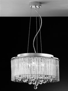 The Franklite Lighting Spirit 6 Light Ceiling Light has a glittering, silver shade dressed with glass rods and smooth glass teardrops. The Spirit Ceiling Light is available from Luxury Lighting. Crystal Ceiling Light, Crystal Pendant Lighting, Semi Flush Ceiling Lights, Drum Pendant, Ceiling Pendant, Wall Lights, Light Pendant, Luxury Lighting, Lighting Store