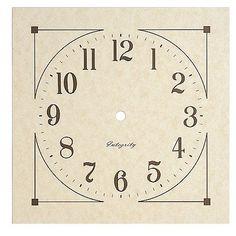 "7 7/8"" Small Mission Parchment Paper Clock Dial Klockit http://www.amazon.com/dp/B005J4UWDC/ref=cm_sw_r_pi_dp_1FDQub1H797GT"