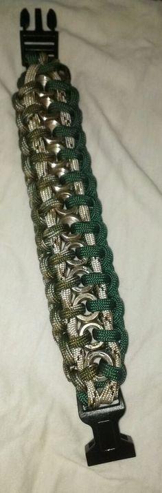 Hexnut paracord bracelet #handmade