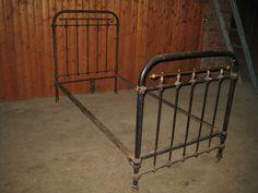 Antikes Bett ANTIK aus Metall u.Messing zerlegbar Jugendstil ca 200 cm x 90 cm