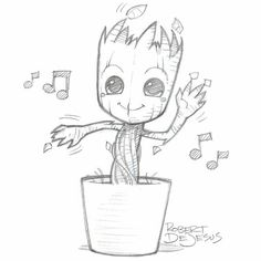 Groot from Banzchan on deviantART - this person makes really great time ., Dancing Groot from Banzchan on deviantART - this person makes really great time ., Dancing Groot from Banzchan on deviantART - this person makes really great time . Marvel Drawings, Art Drawings Sketches, Cool Drawings, Hipster Drawings, Music Drawings, Drawings For Dad, Dancing Drawings, Drawing Skills, Drawing Ideas