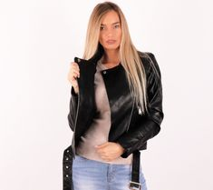 17222# (Fekete) Elől csatos műbőr kabát | viyou.hu Leather Jacket, Jackets, Fashion, Studded Leather Jacket, Down Jackets, Leather Jackets, Moda, La Mode, Jacket