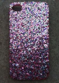 Tinsel Glitter iPhone 4 4s Hard Cover Case by kaylafenton on Etsy. you should just have a collection and switch off.