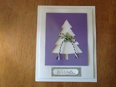 Celebrate Christmas greetings tree card kit of 9 made w/ Stampin' Up!