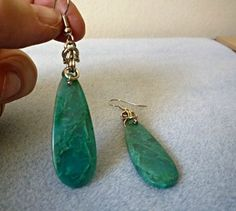 Chrysocolla natural stone earrings