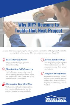 Now is a great opportunity to make the most of your time at home and take on that DIY project. Here are a couple reasons why. Opening Your Own Business, Learn A New Skill, Prime Time, Tomorrow Will Be Better, Career Change, Self Discovery, Personal Development, Saving Money, Opportunity