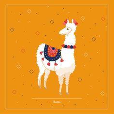 Llama ©Justyna Krug Digital Illustration, Moose Art, Animation, Illustrations, Projects, Animals, Log Projects, Animales, Animaux