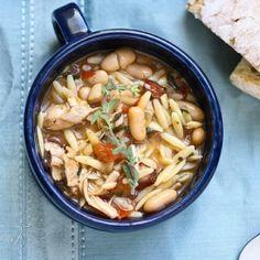 Lightened up Chicken & White Bean Soup