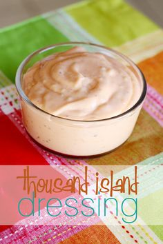 Thousand Island Dressing 1 cup miracle whip (or mayo) 4 Tablespoons ketchup 2 Tablespoons white vinegar 1 Tablespoon sugar 1 Tablespoon sweet pickle relish 1/4 teaspoon onion powder 1/4 teaspoon salt 1/8 teaspoon black pepper Combine all the ingredients in a bowl and mix very well. Allow to sit in the refrigerator for at least an hour.