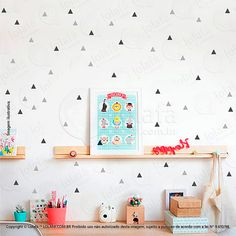 Kids Rugs, Shelves, Holiday Decor, Home Decor, Decoration, Wall Tile Adhesive, Triangle Wall, Infant Room, Ideas