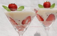 Crema de mascarpone y fresas