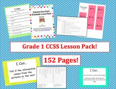 Grade One Common Core Lesson Pack - Designer Dots  $4.95