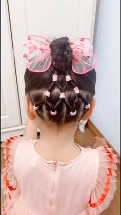 Cute Toddler Hairstyles, Girls Hairdos, Cute Little Girl Hairstyles, Baby Girl Hairstyles, Crazy Hair Days, Crazy Hair For Kids, Hair Up Styles, Hair Videos, Butterfly Braid