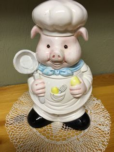 Vintage Cookie Jar, Cookie Jar, Food Storage Container, Item for Pig Collectors, Gift Ideas for Pig Collectors by MaggieBleus on Etsy