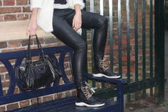 Fashion blogger Elma wearing her black MPS boots…