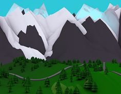 """Check out new work on my @Behance portfolio: """"Low Poly Landscape 3D""""…"""