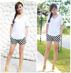Easy checker style (by Belva P) http://lookbook.nu/look/4748779-Easy-checker-style