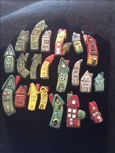 My polymer clay house charms