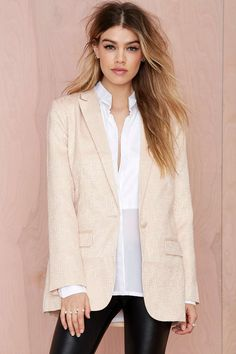 Nasty Gal Heavy Metallic Jacquard Blazer | Shop What's New at Nasty Gal