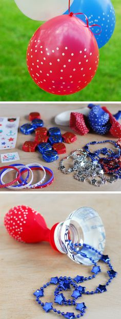 4th of July Pinata Balloons | Click Pic for 21 DIY 4th of July Crafts for Kids to Make | Easy 4th of July Craft Ideas for Preschoolers