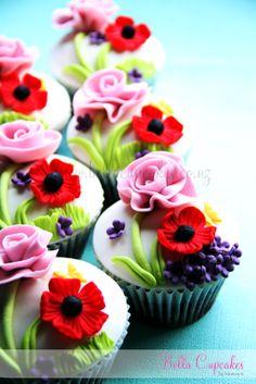 A garden wonderland in a cupcake.