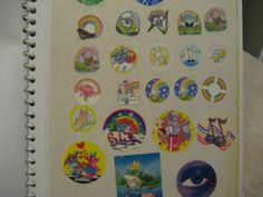 Vintage Sticker Albums and Stickers from The 80's