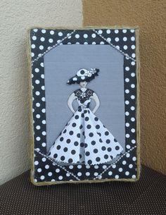 patchwork,šití s láskou - Eshop - 6-dekorace - 11016-krabička dáma