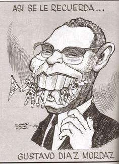 Caricatura política de Ordaz mostrando su principal hecho con el que se le recuerda Mexico Olympics, 1968 Olympics, Cancun, Folklore, Inktober, Typography Design, 3 D, Memories, Retro