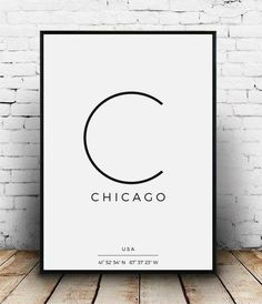 Chicago Coordinates, Chicago Print, Chicago Poster, Chicago Printable, Chicago typography, Chicago coordinate, Chicago artwork, City of Chicago sign  ORDER & GET A DISCOUNT FOR ALL NEXT PURCHASES!  Printable artwork for your stylish home. Ready-to-print & suitable for any print size.  Buy a print and enjoy a THANK YOU GIFT from us – a promotional code to be used with your next purchase!  WHAT YOU RECEIVE: The package includes a Manual with printing instructions, a Thank You Gift and 4...