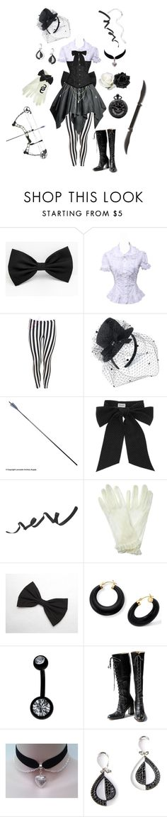 """Black and White Magical Girl"" by conquistadorofsorts ❤ liked on Polyvore featuring Monsoon, S.W.O.R.D., Yves Saint Laurent, PA Design and Palm Beach Jewelry"