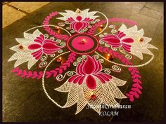 We have included beautiful diwali rangoli designs from shanthi's gallery. It's believed that rangoli designs started many centuries ago. Some refrences of rangoli designs are also available in our