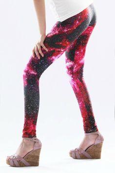Red Galaxy Legging