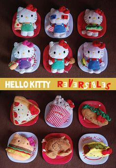 Hello Kitty reversibles.