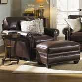 Found it at Wayfair - Burke Leather Armchair and Ottoman