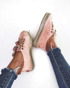 shoes summer pink sneakers vintage pastel sneakers velvet shoes pink sneakers pink shoes sporty chic athleisure cropped jeans frayed denim espadrilles flats suede shoes pink espadrilles designer espadrilles suede