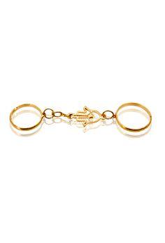 #hamza #ring #doublering #gold #minimal #jewelry #bauble #pipabella