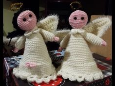 Tutorial angelo all'uncinetto - bomboniera comunione - angel crochet - - YouTube