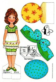 The Ginghams - Katie at the Seashore* 1500 free paper dolls at Arielle Gabriel's The International Paper Doll Society free paper dolls for my Pinterest friends..*
