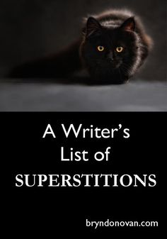 For Character Development and Plot Inspiration || A Writer's List of SUPERSTITIONS #writing