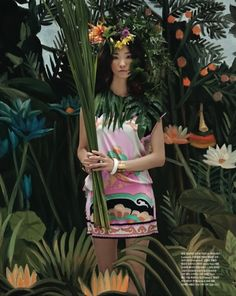 Vogue Korea makes an editorial inspired byy Henri Rousseau.