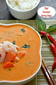 Thai Coconut Curry Soup -  Desiree