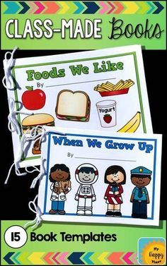 Preschool and kindergarten kids love making and reading these class books! They love seeing their names in print. This is perfect practice for the beginning of the year and on!