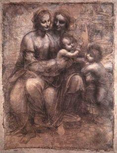 Leonardo Da Vinci-madonna et l'enfant avec r anne et le jeunes r john