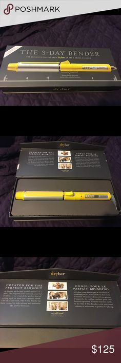 Drybar 3-Day Bender Digital Curling Iron Brand New! 1.25in barrel Rotating curling iron. The 3-day Bender Curling Iron has infrared energy & 2 BioCeramic heaters to quickly & easily curl hair. Improves condition of hair by increasing shine & reducing frizz. Rotating clamp makes curling hair quick & easy. Create even, steady heat in 60 seconds. Digital temp control allows for custom heat adjustment based on hair type.  Key Features: Dual ceramic heating plates Rotating clamp Even, steady…