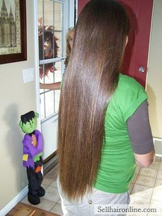 Nice Selling My Gorgeous Thick Virgin Brunette Hair