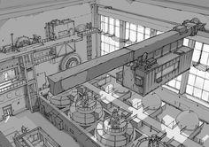 Env Design - PowerHouse Interior by alantsuei on deviantART