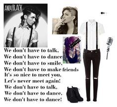 """Andy Black- We don't have to dance"" by evangeline-purdy-girl ❤ liked on Polyvore featuring John Lewis, Dior Homme and Allurez"