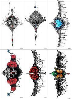 6sheet 2016 3D Colorful Beast Temporary Tattoo Sticker Gemstone Butterfly Flower Tattoo Chest Sticker Body Art 6 model Holiday